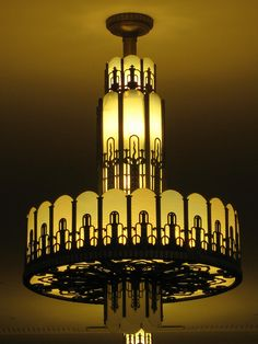 Art Deco Chandelier - Myer Emporium Mural Hall, Bourke Street, Melbourne by raaen99, via Flickr