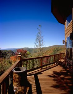 The beautiful cedar lap wraparound deck on a circular Deltec home, high on a mountain. Rhapsody In Blue, Round House, Outdoor Living, Outdoor Decor, Home Pictures, Mountain View, View Image, All Over The World, Custom Homes