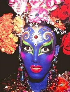 A collection of images of Kabuki and his work. Originally a Club Kid in the and now an incredible makeup artist. Drag Makeup, Makeup Art, Kids Makeup, Club Kids, Monster Party, Rave, Face Art, Makeup Inspiration, Art Inspo