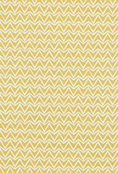 Dhurrie (120179) - Scion Fabrics - A simple chevron pattern with a ragged hand-drawn edge effect.  Shown in the Sauterne colourway, a deep mustard yellow. Design also available as wallpaper. Please request sample for true colour match.