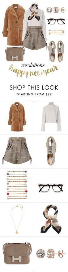 """""""Untitled #170"""" by giotibi ❤ liked on Polyvore featuring Warehouse, Golden Goose, self-portrait, Steve Madden, LC Lauren Conrad, Versace, Burberry, Hermès, Diamond Splendor and contestentry"""