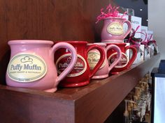 Love these mugs at Puffy Muffin Dessert Bakery and Restaurant! www.puffymuffin.com