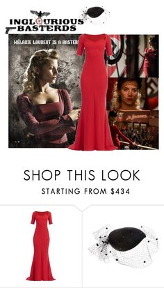 """""""Shosanna's Red Dress in Inglourious Basterds"""" by andreearaiciu ❤ liked on Polyvore featuring Rosie Olivia and Smith & Wesson"""
