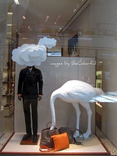 not sure what this means, but it attracts attention which is what good visual merchandising should do