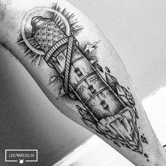 Muito obrigado Caio! Pela confiança, e por aguentar firme. #tattoosp #sp #linework #lighthouse #dotwork #blacktattoo #blackworkerssubmission
