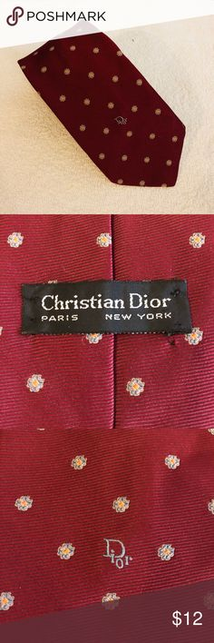 Christian Dior Red w/ Blue & Gold Check Tie Christian Dior Red With Blue and Gold Check Silk Necktie! Great condition! Please make reasonable offers and bundle! Ask questions! Christian Dior Accessories Ties