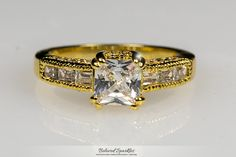 Valma Princess Cut Solitaire Engagement 18k Gold Ring | 2.3 Carat |Gold | Cubic Zirconia