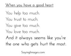 Hurt the most..
