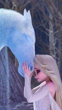 ❄ Elsa with The Nokk ❄ | 10K Phone Wallpaper