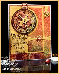 Fall Clock card - ODBD images, dies & paper