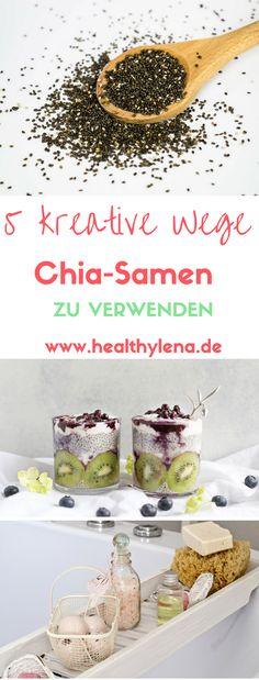 5 kreative Wege, wie du Chia-Samen verwenden kannst. Egal ob zum Kochen, Backen oder für Beauty DIY - Chiasamen kann man ganz vielseitig einsetzen. Hier erfährst du alle Tipps zum Thema Chia sowie Rezepte (vegan).