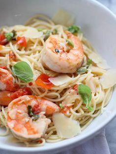 Shrimp Scampi Pasta - foodiecrush
