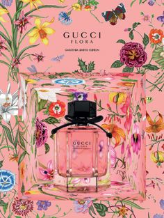 Gucci has launched a new edition of its Flora fragrance, Flora Gardenia Limited Edition - see more. The new Flora Gardenia limited edition scent is tinted Bussiness Card, Sketch Painting, Watercolour Painting, Perfume Packaging, Advertising Photography, Flower Patterns, Flower Art, Art Drawings, Illustration Art