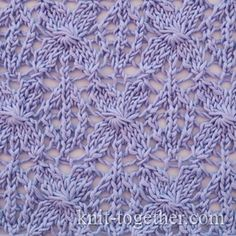 Totally beautiful floral knitted lace pattern. Caramel Lace Pattern, knitting pattern chart, Eyelet and Lace Stitch Patterns. Enjoy from #KnittingGuru