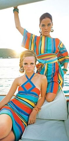 Cheryl Tiegs and Ali MacGraw for Glamour 1960's
