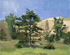 """Tim Kennedy (Am. 19??-), Dunes and Trees - Sleeping Bear Point, 16"""" x 20"""", oil on linen"""