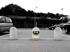 Bender from Futurama street art
