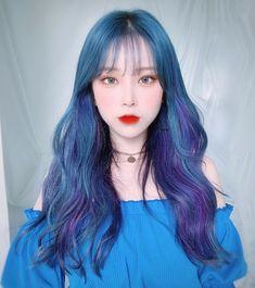 Aisa Girl Style - Aisa Map Tattoo - Aisa Travel Outfit - Mia And Aisa Everglow Pretty Korean Girls, Korean Beauty Girls, Cute Korean Girl, Girl Hair Colors, Hair Color Blue, Hair Color For Kids, Hairstyles With Bangs, Girl Hairstyles, Kpop Hair Color