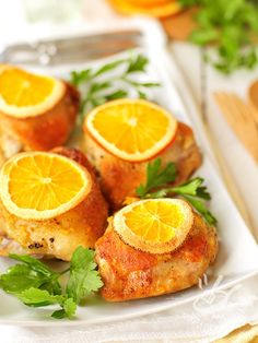 chicken rolls with orange - Potrete servire gli appetitosi Involtini di pollo all'arancia nel menu settimanale o come finger food in occasione di un originale e gustoso apericena.