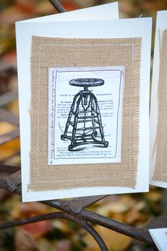 Gypsy Moments make great DIY Cards - simply sew paper onto canvas corp burlap and ivory sewn cards to get this great look - 12 different design ideas on one 12x12 7gypsies paper #DIYCards