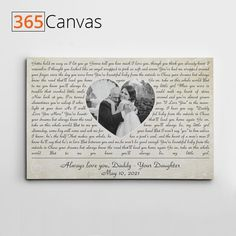 "Shopping for your pops? Our personalized ""Always Love You, Daddy"" song lyrics canvas print is exactly what you need. Ideal for Father's Day, his birthday, or any other occasion. Liven up his home with love! This beautiful canvas comes with the lyrics of the song that you had your father-daughter dance at your wedding or can be any other words that you wish. #alwaysloveyou #songlyricscanvasprint #customcanvasprint #wallartprint #fathersday2021"