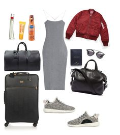 Travel by kinang on Polyvore featuring polyvore, fashion, style, T By Alexander Wang, adidas, Dolce&Gabbana, Louis Vuitton, Givenchy, Kate Spade, Christian Dior, Kenzo and Burt's Bees