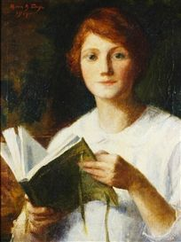 Marie Danforth Page (1869-1940)  Young Woman Reading