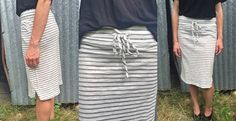 The perfect summer midi skirt! Stripes, cute and so comfortable! Only $24.99!