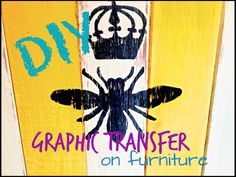 How to paint and distress Graphic's onto Furniture with CeCe Caldwell paint! By Debi Beard!