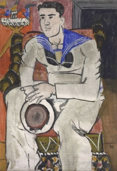 Yannis Tsarouchis / Sailor with a pink face 1938 Pigments with animal glue on paper. Art Gay, Max Beckmann, Classical Period, Mood Images, Art Of Man, Unusual Art, Greek Art, Art Database, Drawing Practice