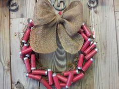 Shotgun+Shell+crafts   Shotgun Shell Wreath by wineyblondeboutique   Crafts