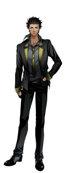Aldo (Galtia), black hair, brown eyes, scar   He's just a side character?? Whyyy he looks so interesting ;;