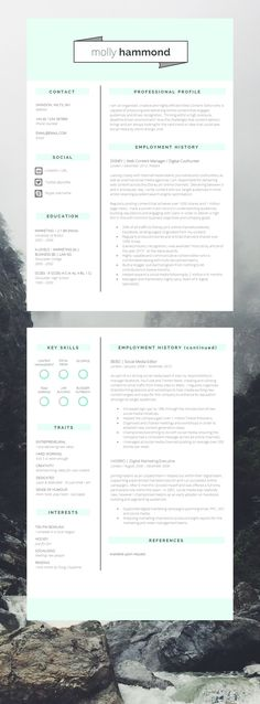 Epic 2 Page CV Template | Resume Template. Looking for a new #Job this CV will hep you for sure! #CV #Resume #CVTemplate #CVDesign CV Design #ResumeTemplate