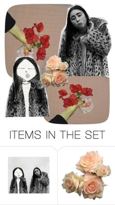 """CHEETAH GIRL"" by madeliefjulia ❤ liked on Polyvore featuring art"