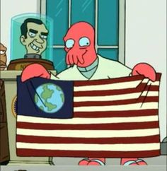 Futurama Salute Flag Day with banners from Trek + 14 more sci-fi franchises | Blastr