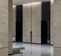 Hotel Lobby Design, Elevator Lobby Design, Chengdu, Hotel Door, Hotel Hallway, Hotel Corridor, Wooden Facade, Lift Design, Lobby Interior