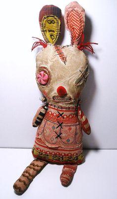 Handmade Art Doll (Monster Brittle)-Junker Jane