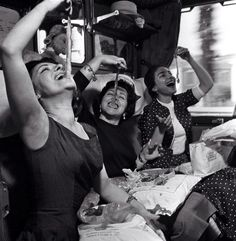 And this is how you eat pasta by 3 prima donnas!!! Graziella Sciutti, Giulietta Simionato and Maria Callas during the train travel for the tour of La Scala in Vienna ~ 1955  #Expo2015 #Milan #WorldsFair