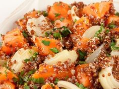 Quinoa with roast carrots and onions