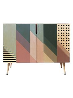 Deny Designs - Mareike Boehmer Geometry Blocking 9 Credenza, - Buffets and Sideboards Baby Furniture Sets, Furniture Direct, Paint Furniture, Luxury Furniture, Furniture Makeover, Furniture Design, Furniture Nyc, Cheap Furniture, Painted Furniture