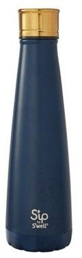 S'ip by S'well 15oz Portable Drinkware Vacuum-Insulated Water Bottle - Navy Blue