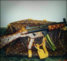 ☜♥☞ My two best friends Heckler and Koch + the Love of my life Louis Vuitton = LLOVE ☜♥☞ I'll take BOTH!  A GIRL CAN DREAM!!!!