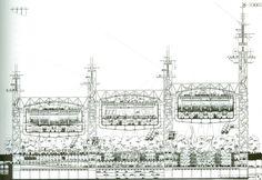Richard Rogers Partnership | Tokyo Forum Drawing | 1990