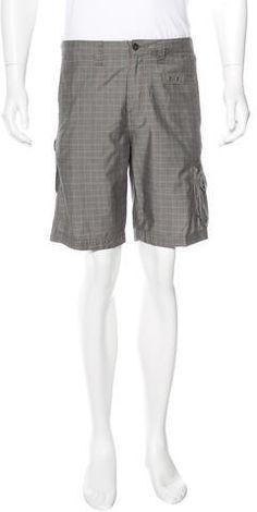 John Varvatos Plaid Cargo Shorts John Varvatos, Casual Shorts, Plaid, Zip, Stylish, Fashion, Gingham, Moda, Fashion Styles