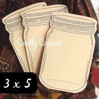 large mason jar cards Would make cute recipe cards!!!!
