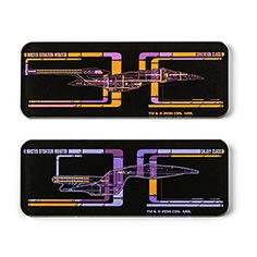 Decorate your domicile with magnets complete with LCARS interface designs. Of course, the panels on these magnets are non-working - probably because our primitive electrical power-systems are incompatible with 24th century technology.