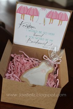 """Made this """"Will you be my Bridesmaid"""" card for my bridesmaids, they LOVED it!"""