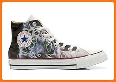 Converse All Star Cutomized - Personalisierte Schuhe (Handwerk Produkt) mit White Tiger