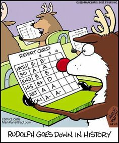 Rudolph goes down in history!  LOL