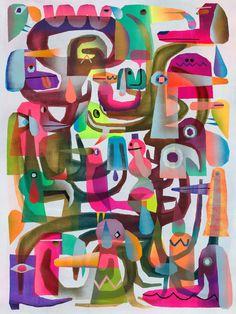 Tim Biskup - Space Madness 3 - 2015 (130cm x 100cm)'